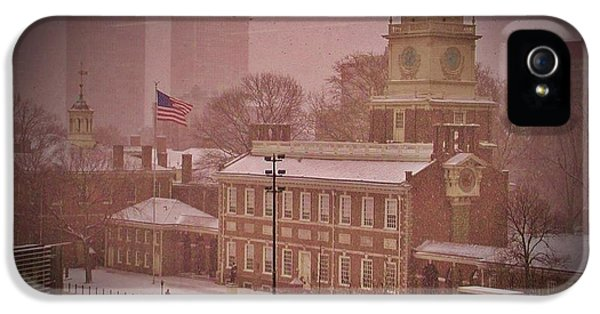 Independence Hall In The Snow IPhone 5 Case