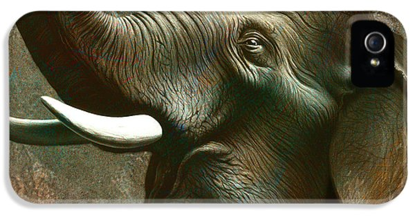 Trumpet iPhone 5 Case - Indian Elephant 2 by Jerry LoFaro