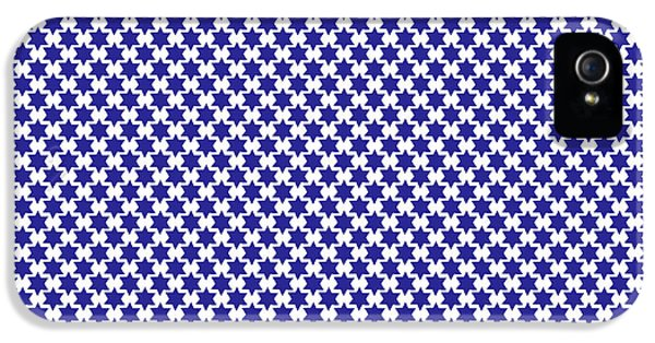 Indigo And White Star Of David- Art By Linda Woods IPhone 5 Case