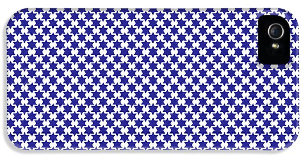 Indigo And White Star Of David- Art By Linda Woods IPhone 5 Case by Linda Woods