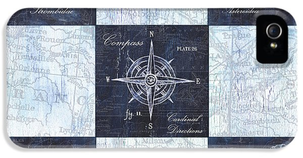 Indigo Nautical Collage IPhone 5 Case
