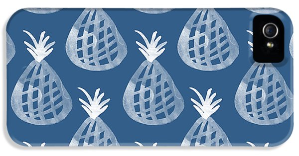 Indigo Pineapple Party IPhone 5 Case