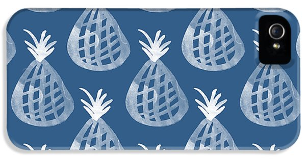 Indigo Pineapple Party IPhone 5 Case by Linda Woods