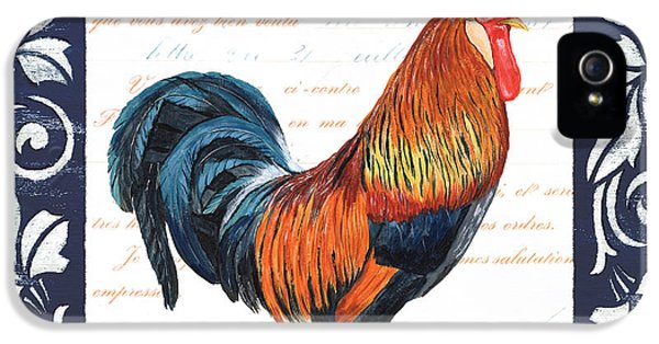 Indigo Rooster 1 IPhone 5 Case by Debbie DeWitt