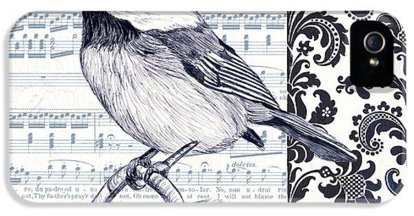Indigo Vintage Songbird 2 IPhone 5 Case by Debbie DeWitt