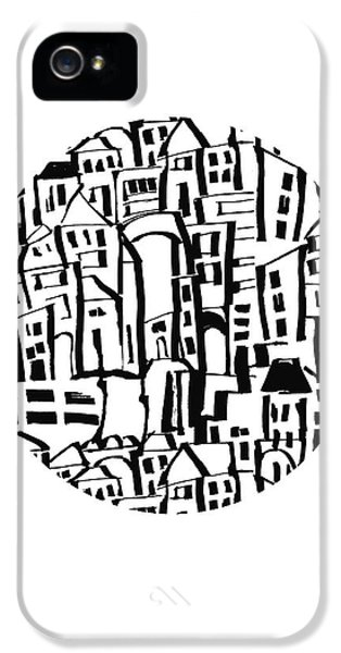 Inky Village Sketch Ball- Art By Linda Woods IPhone 5 Case