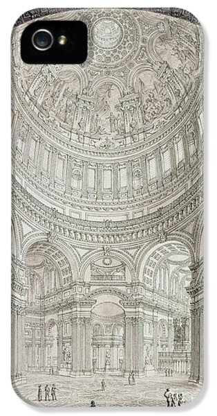 Interior Of Saint Pauls Cathedral IPhone 5 / 5s Case by John Coney