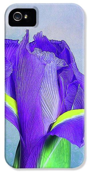 Iris Flower IPhone 5 Case by Tom Mc Nemar