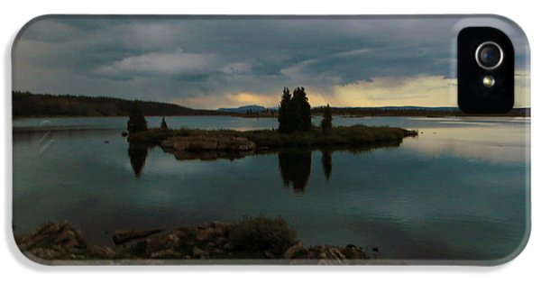 IPhone 5 Case featuring the photograph Island In The Storm by Karen Shackles