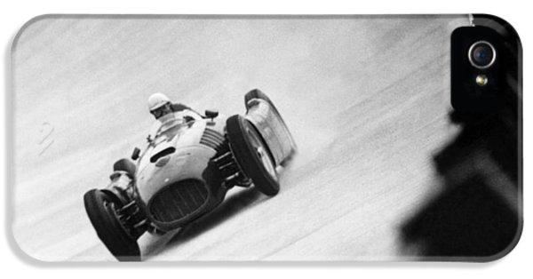 Italian Racing Driver Nino Farina Driving His Ferrari At Monza  IPhone 5 Case by Italian School