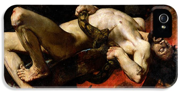 Python iPhone 5 Case - Ixion Thrown Into Hades by Jules Elie Delaunay