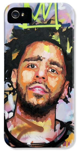 J Cole IPhone 5 Case by Richard Day
