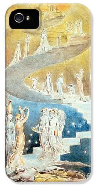 Jacobs Ladder IPhone 5 Case by William Blake