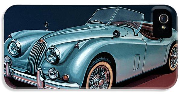 Jaguar Xk140 1954 Painting IPhone 5 Case by Paul Meijering