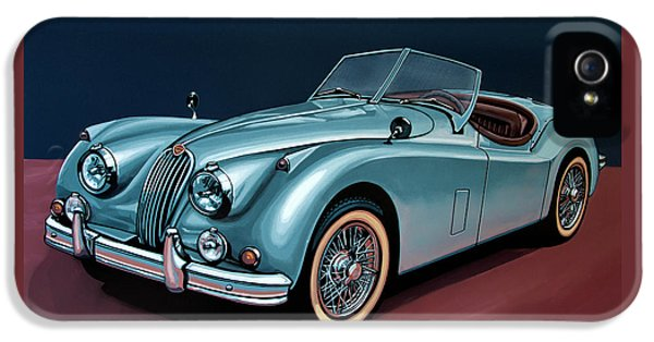 Jaguar Xk140 1954 Painting IPhone 5 Case by Paul Meijering