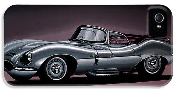 Jaguar Xkss 1957 Painting IPhone 5 Case by Paul Meijering