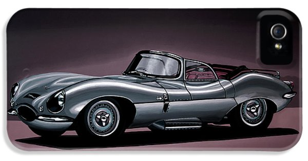 Swallow iPhone 5 Case - Jaguar Xkss 1957 Painting by Paul Meijering