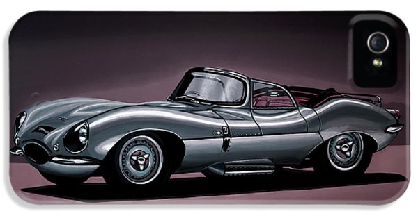 Jaguar Xkss 1957 Painting IPhone 5 Case by Paul Meijering