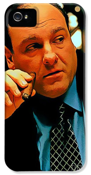 James Gandolfini As Tony Soprano IPhone 5 / 5s Case by Pd