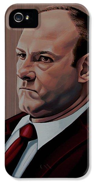 James Gandolfini Painting IPhone 5 Case by Paul Meijering