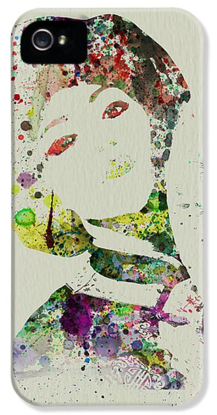 Theater iPhone 5 Cases - Japanese woman iPhone 5 Case by Naxart Studio