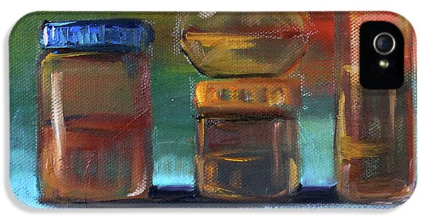 IPhone 5 Case featuring the painting Jars Still Life Painting by Nancy Merkle