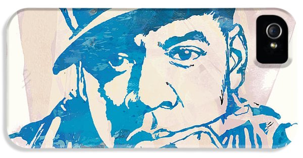 Jay-z  Etching Pop Art Poster IPhone 5 Case by Kim Wang