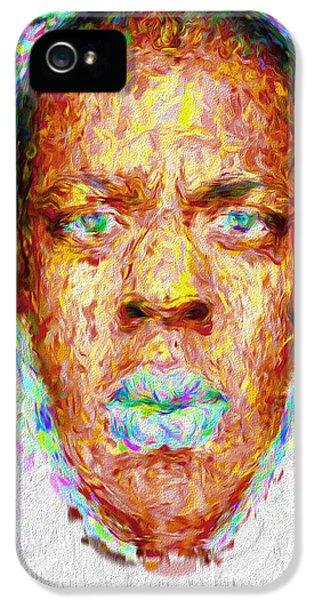 Jay Z Painted Digitally 2 IPhone 5 Case by David Haskett