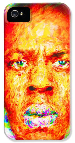 Jay-z Shawn Carter Digitally Painted IPhone 5 Case by David Haskett