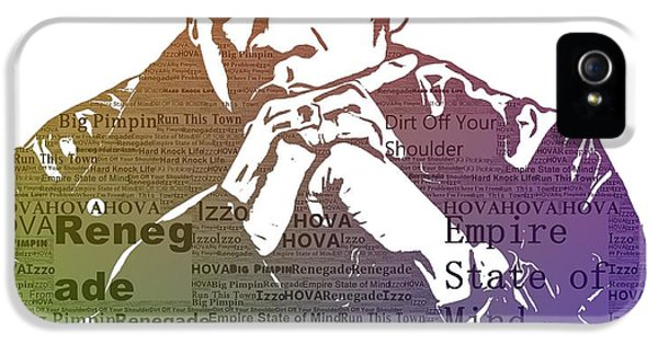 Jay Z Typography IPhone 5 Case by Dan Sproul