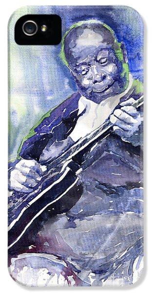 Jazz B B King 02 IPhone 5 Case by Yuriy  Shevchuk