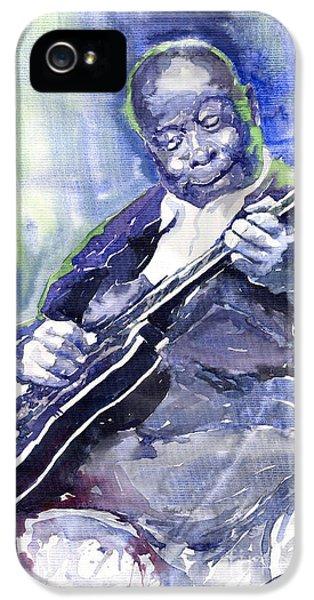Jazz iPhone 5 Case - Jazz B B King 02 by Yuriy Shevchuk