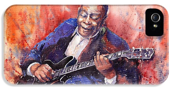 B iPhone 5 Cases - Jazz B B King 06 a iPhone 5 Case by Yuriy  Shevchuk
