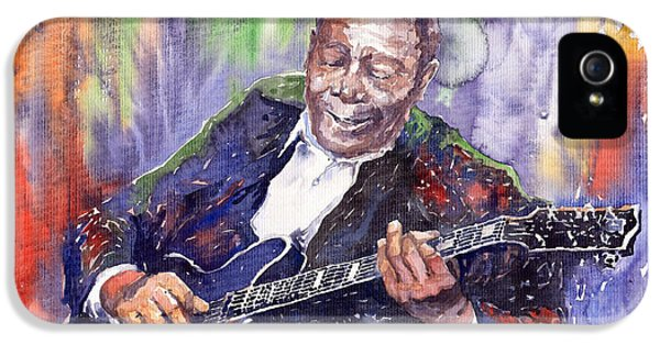 B iPhone 5 Cases - Jazz B B King 06 iPhone 5 Case by Yuriy  Shevchuk