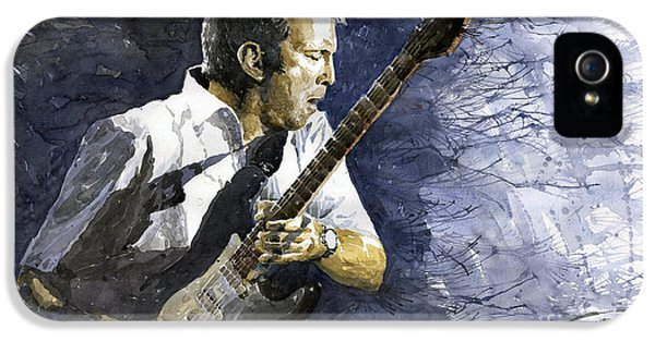 Jazz Eric Clapton 1 IPhone 5 Case by Yuriy  Shevchuk