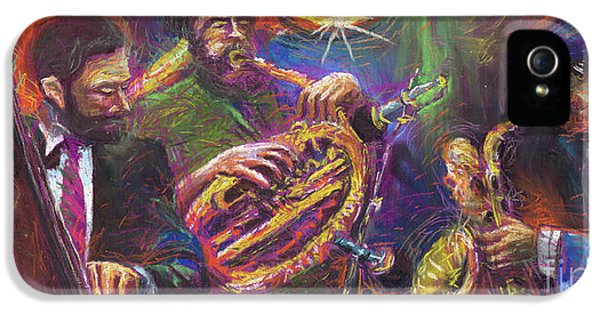 Jazz Jazzband Trio IPhone 5 Case by Yuriy  Shevchuk