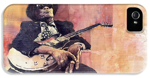 Legends iPhone 5 Case - Jazz John Lee Hooker by Yuriy Shevchuk