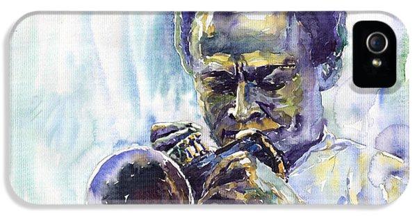 Jazz iPhone 5 Case - Jazz Miles Davis 10 by Yuriy Shevchuk