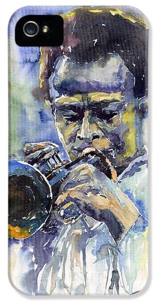 Jazz iPhone 5 Case - Jazz Miles Davis 12 by Yuriy Shevchuk