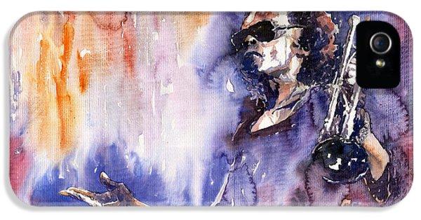 Music iPhone 5 Case - Jazz Miles Davis 14 by Yuriy Shevchuk