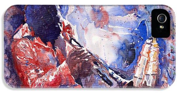Jazz iPhone 5 Case - Jazz Miles Davis 15 by Yuriy Shevchuk