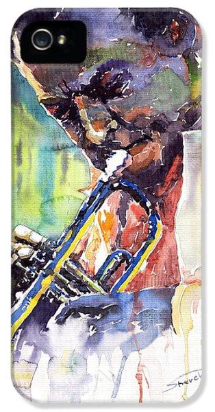 Jazz iPhone 5 Case - Jazz Miles Davis 9 Blue by Yuriy Shevchuk