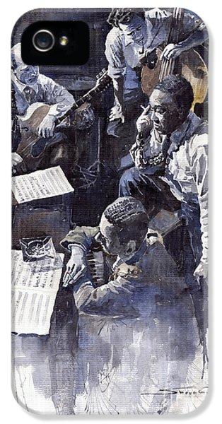 Jazz iPhone 5 Case - Jazz Parker Tristano Bauer Safransky Rca Studio Ny 1949 by Yuriy Shevchuk