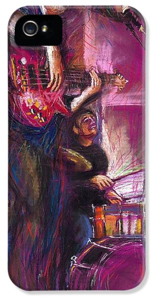 Jazz iPhone 5 Case - Jazz Purple Duet by Yuriy Shevchuk