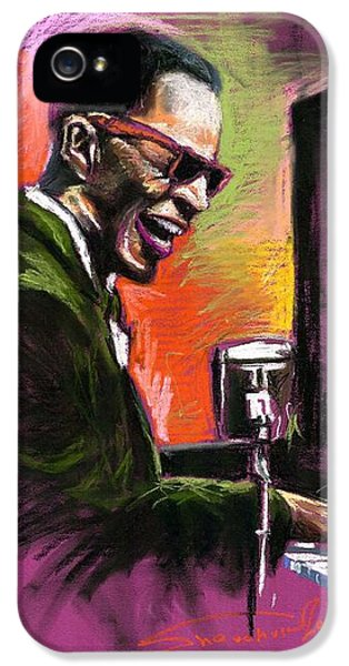 Jazz. Ray Charles.2. IPhone 5 Case by Yuriy  Shevchuk