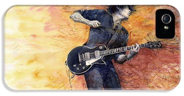 Guitar iPhone 5 Case - Jazz Rock Guitarist Stone Temple Pilots by Yuriy Shevchuk