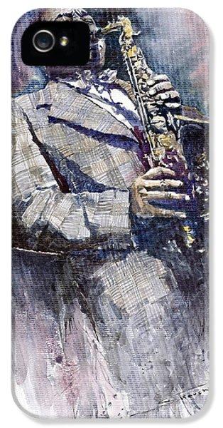Jazz iPhone 5 Case - Jazz Saxophonist Charlie Parker by Yuriy Shevchuk