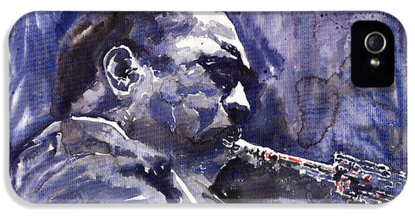 Saxophone iPhone 5 Case - Jazz Saxophonist John Coltrane 01 by Yuriy Shevchuk