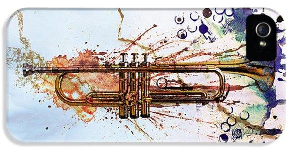 Music iPhone 5 Case - Jazz Trumpet by David Ridley
