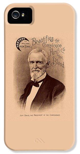 Jefferson Davis Vintage Advertisement IPhone 5 Case